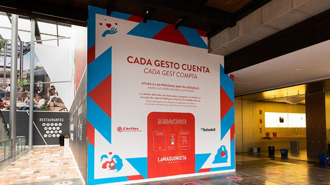 Donation Wall en La Maquinista